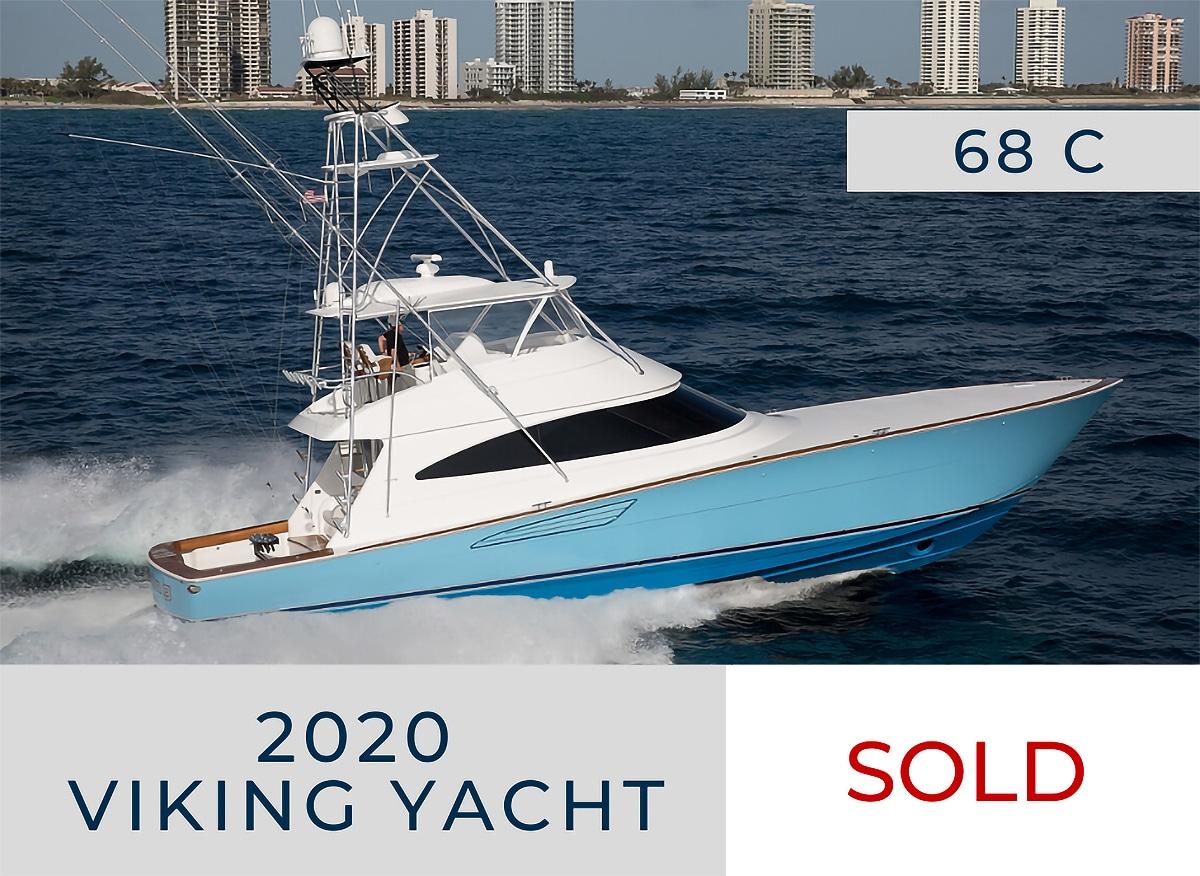 sold 2020 68 Viking Yachts Convertible