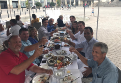Galati Team having lunch in Europe