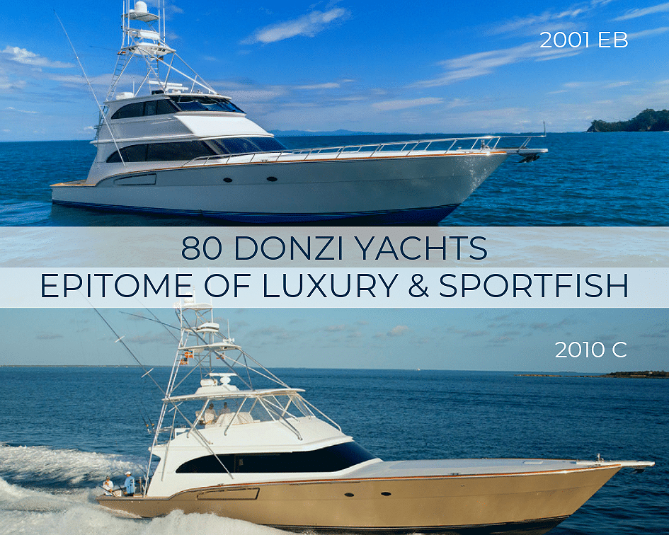 80 Donzi Yachts Epitome of Luxury & Sportfish