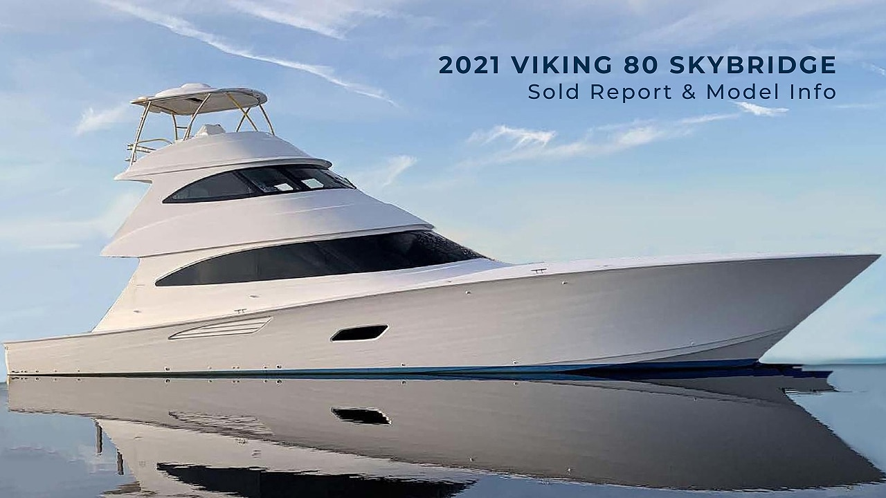 80 Viking Yachts Skybridge