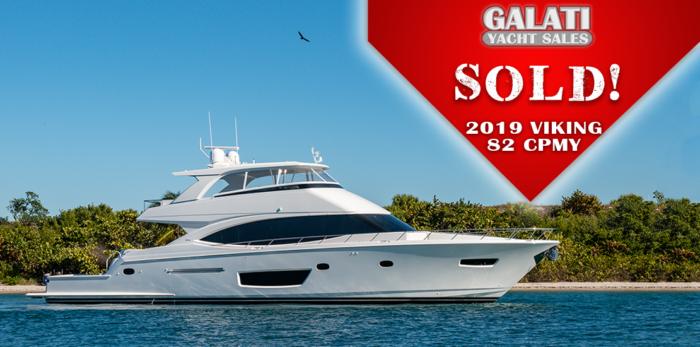 82 Viking Cockpit Motoryacht Sold by Galati Yacht Sales