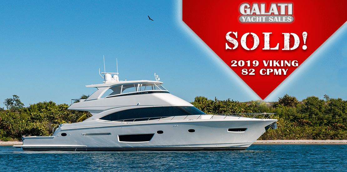 82 Viking Cockpit Motoryacht Sold by Galati Yacht Sales
