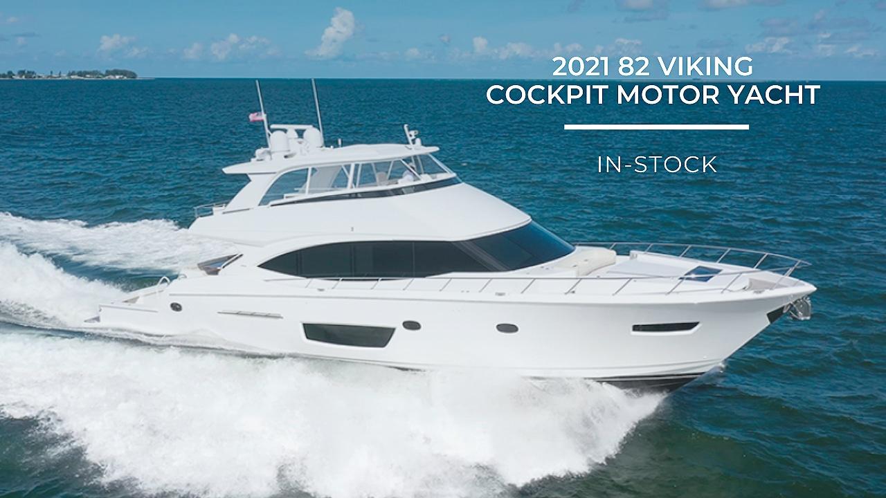 In-Stock 2021 82 Viking Cockpit Motor Yacht