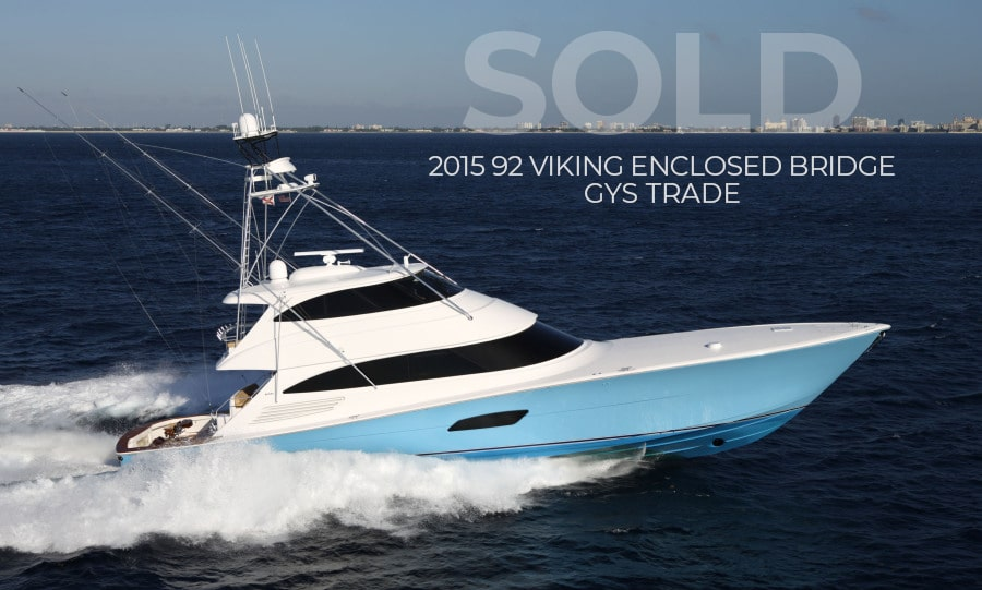 Sold 2015 92 Viking Yacht