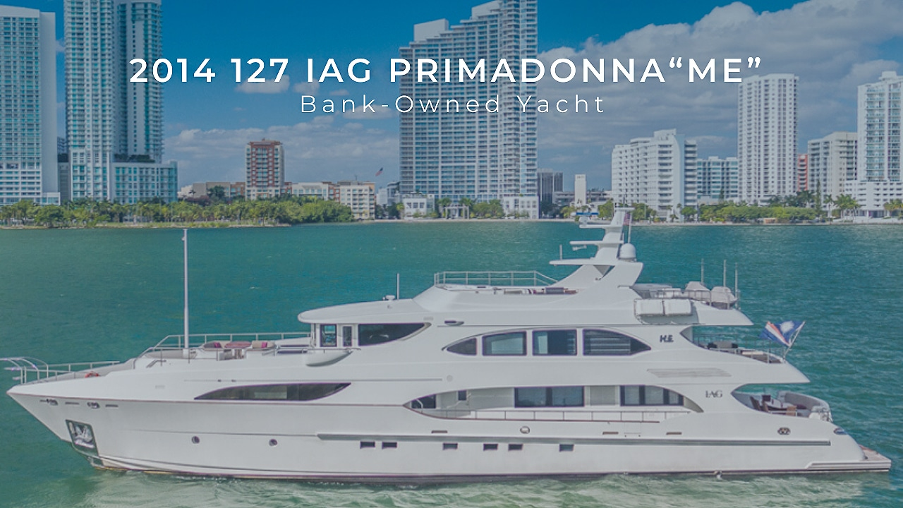 2014 127 Primadonna Bank owned yacht