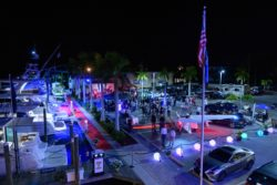 night time view at Waves, Wings, & Wheels event