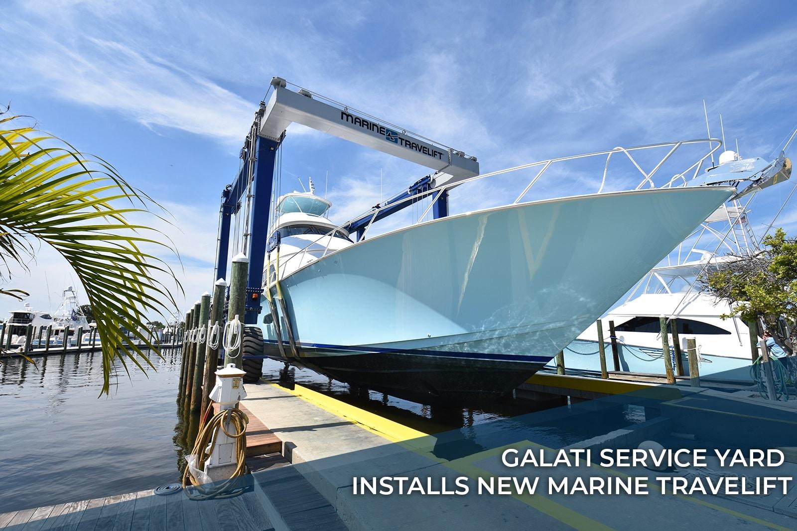 Galati Service Yard Installs New Marine Travelift