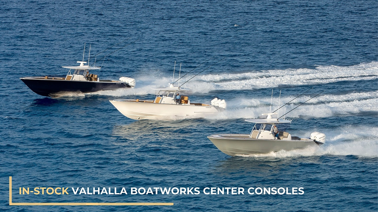 In-stock Valhalla Boatworks center consoles