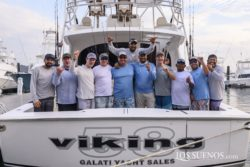 Team Galati aboard the New Viking 58C