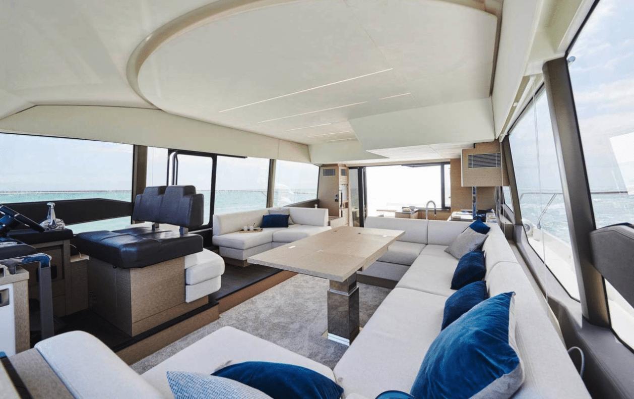 Prestige 590 flybridge yacht for sale