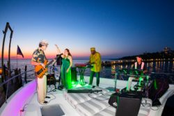 band playing on yacht