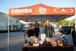 Waves, Wings, & Wheels event Cohiba display