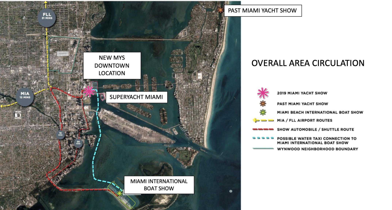 Miami Yacht Show 2019 Map