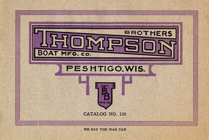Thompson Bros Boat Manufacturer Company