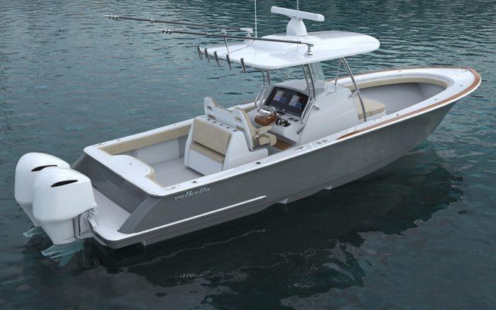 Valhalla Boatworks V33 rendering of aft quarter