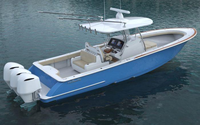 Valhalla Boatworks V37 rendering of aft quarter