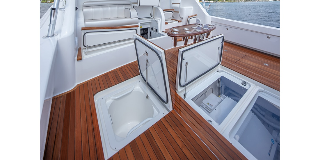 Viking 58 Convertible cockpit2