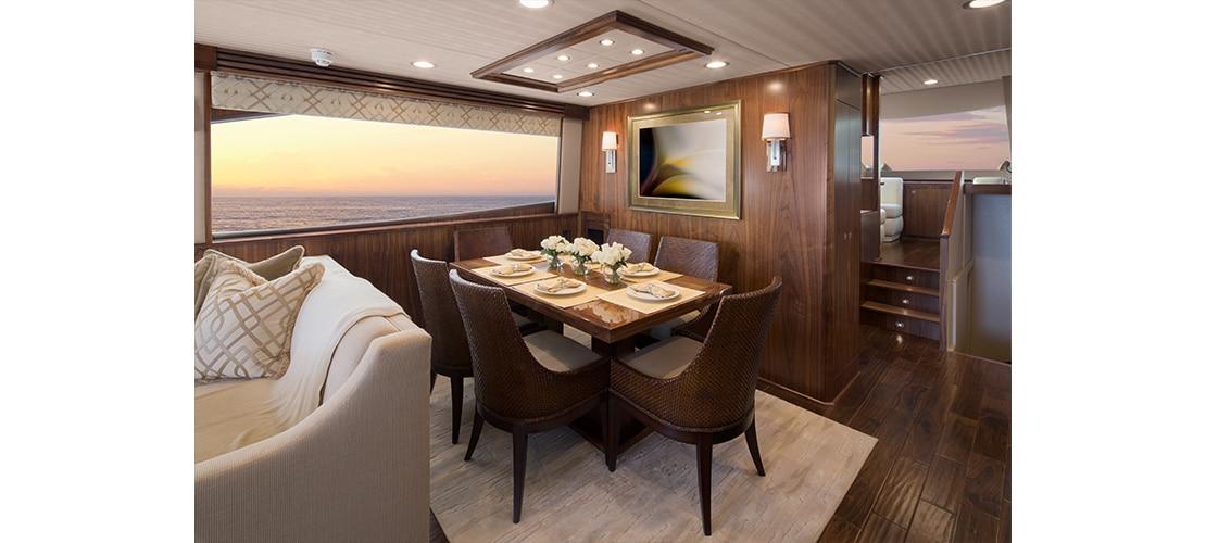 Viking 75 Motor Yacht Dining
