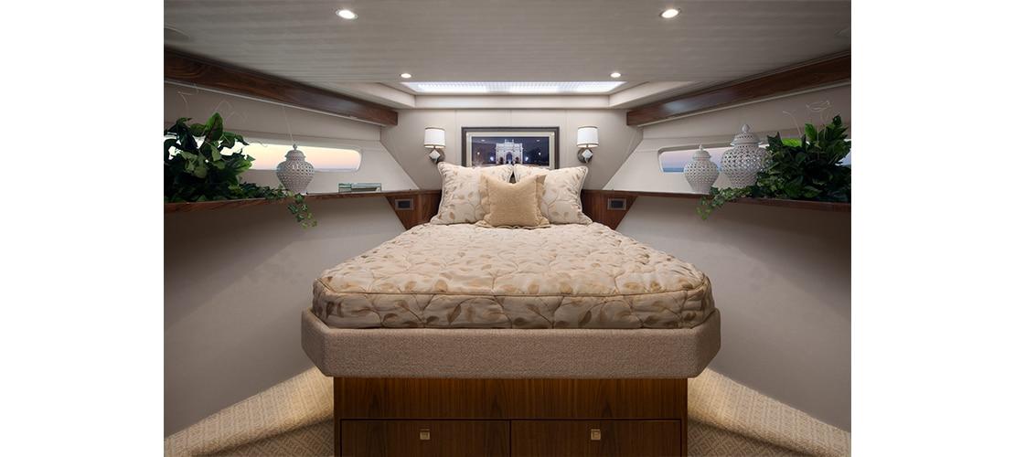 Viking 75 Motor Yacht Forward Stateroom