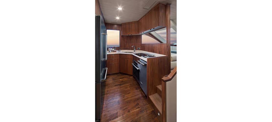 Viking 75 Motor Yacht Galley 2