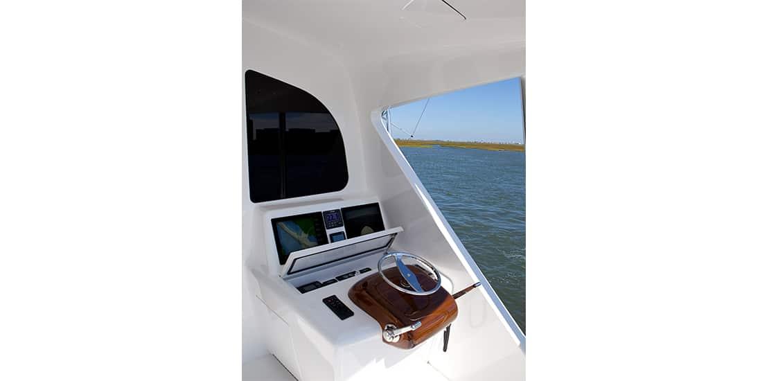 Viking 92 Enclosed Bridge Controls