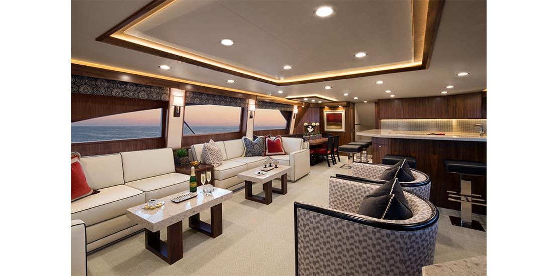 Viking 92 Enclosed Bridge Salon