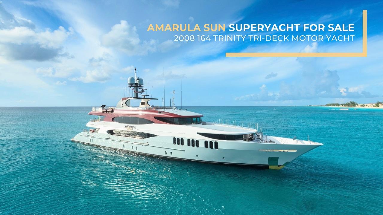 2008 164 Trinity Tri-Deck Motor Yacht Amarula Sun superyacht for sale by Galati Yacht Sales