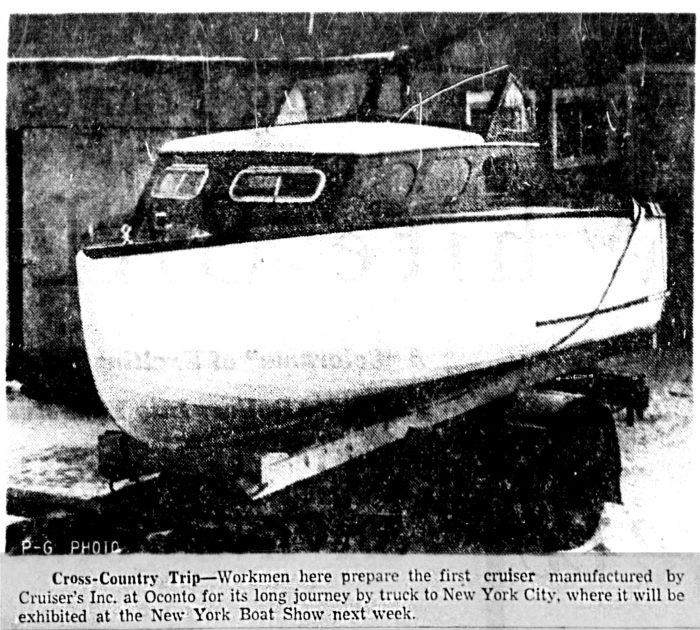 Cruisers Inc. Cabin Cruiser 1954