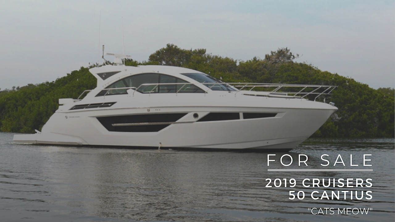 """2019 Cruisers Yachts 50 Cantius """"Cat's Meow"""" For Sale"""