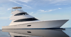 New Viking Yachts 80 Skybridge