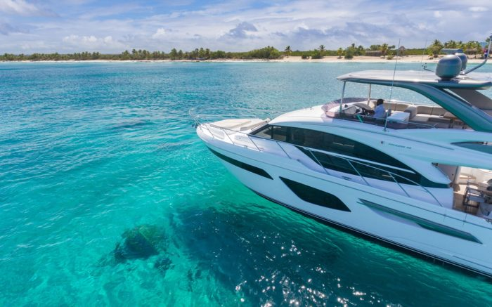 Top Yachting Destinations in Spring: Pictured- Princess F55