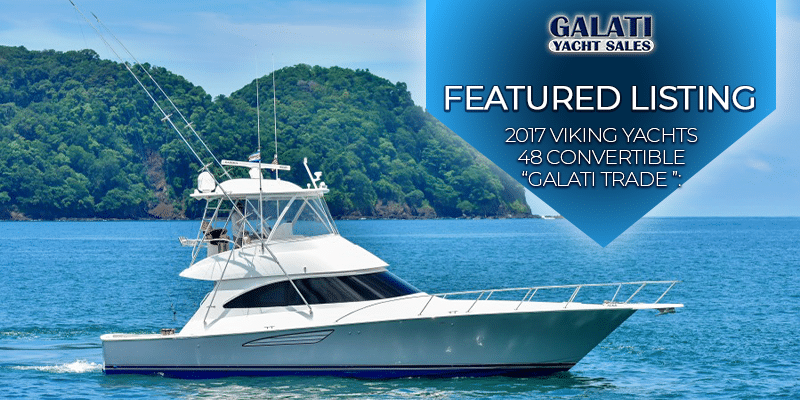 2017 48 Viking Yachts Convertible- Galati Trade