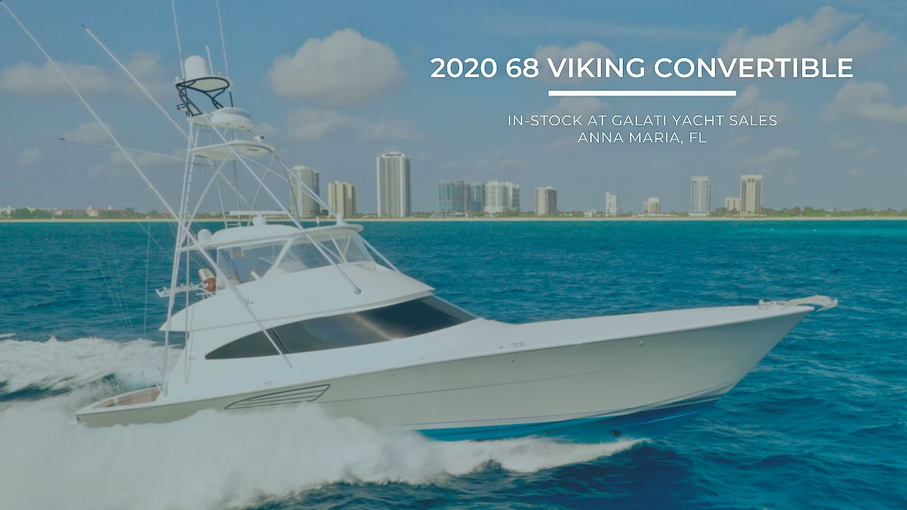 2020 Viking Yacht 68 Convertible: Galati Stock