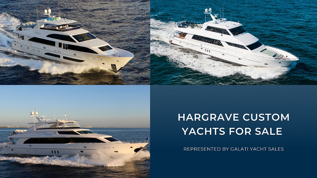 hargrave custom yachts available for sale