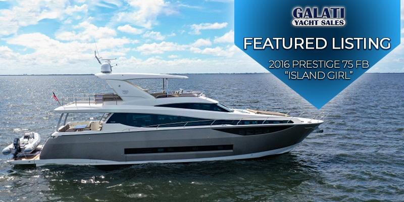 Island Girl 75 Prestige Yachts Flybridge