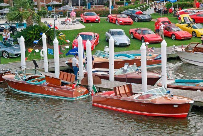 Boat Display at Keels & Wheels boat show