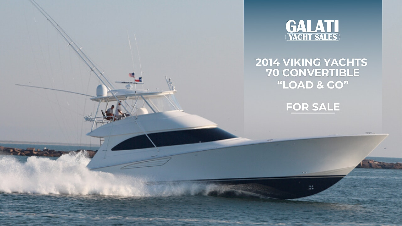 "2014 Viking Yachts 70 Convertible ""Load & Go"" 