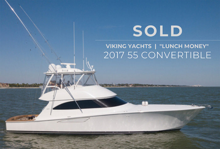 Lunch Money: sold2017 55 Viking Yacht Convertible