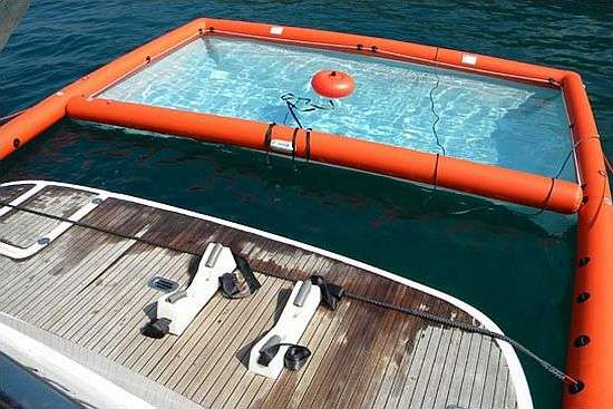 inflatable yacht pool