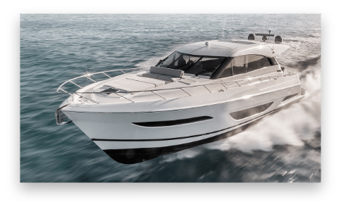 New Maritimo yachts running at high speed on the water