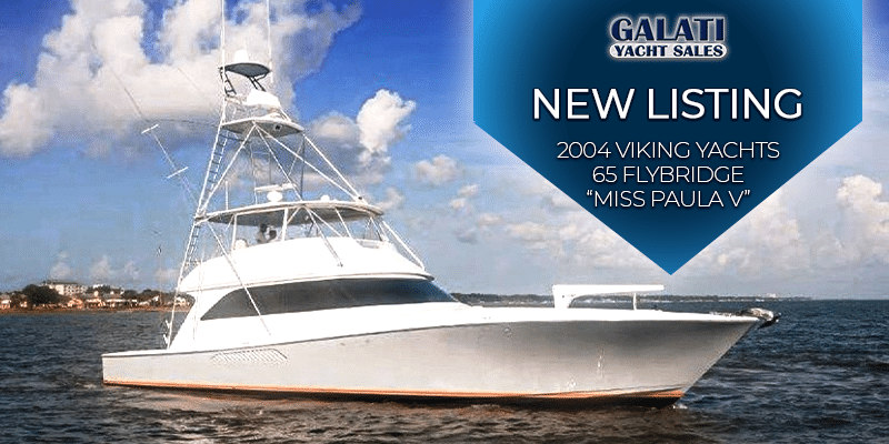 "2004 65 Viking Yachts Flybridge ""Miss Paula V""..."