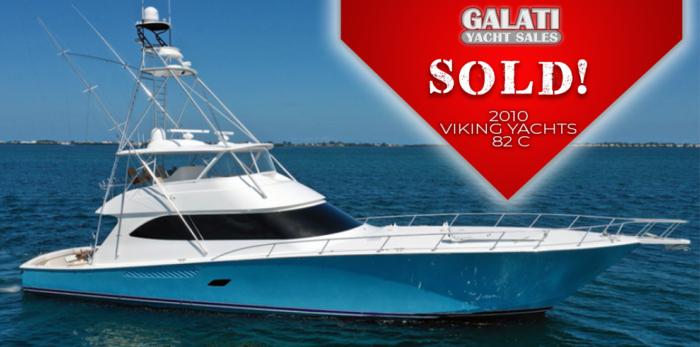 Sold 2010 82 Viking Yachts Convertible Mr. Grinch