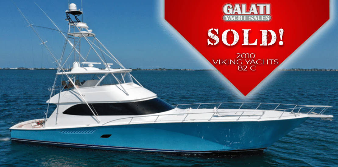 Sold 2010 82 Viking Yachts Convertible Mr. Grinch