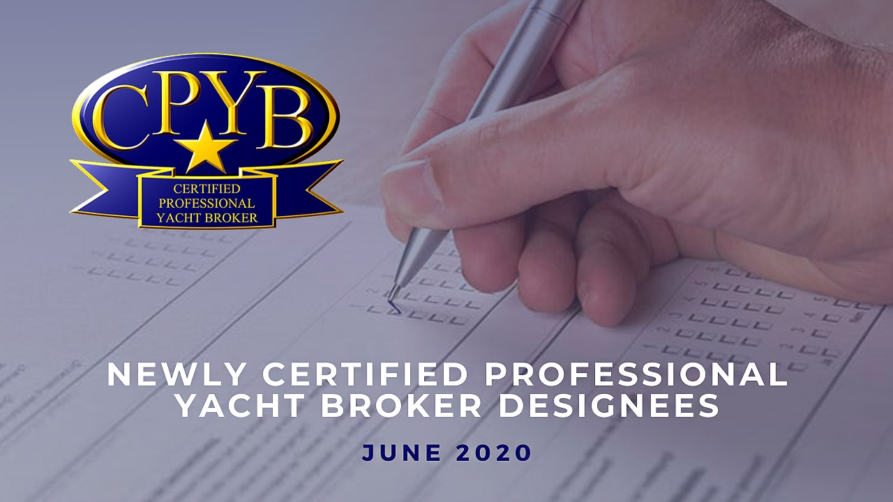 newly certified professional yacht brokers