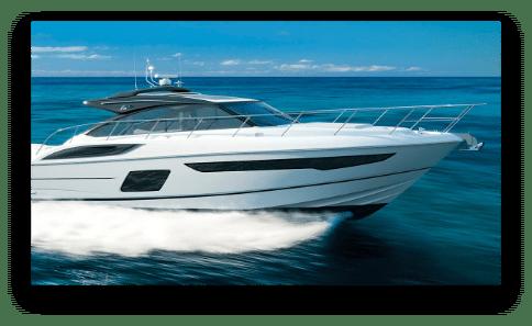 New Princess Yacht model running shot