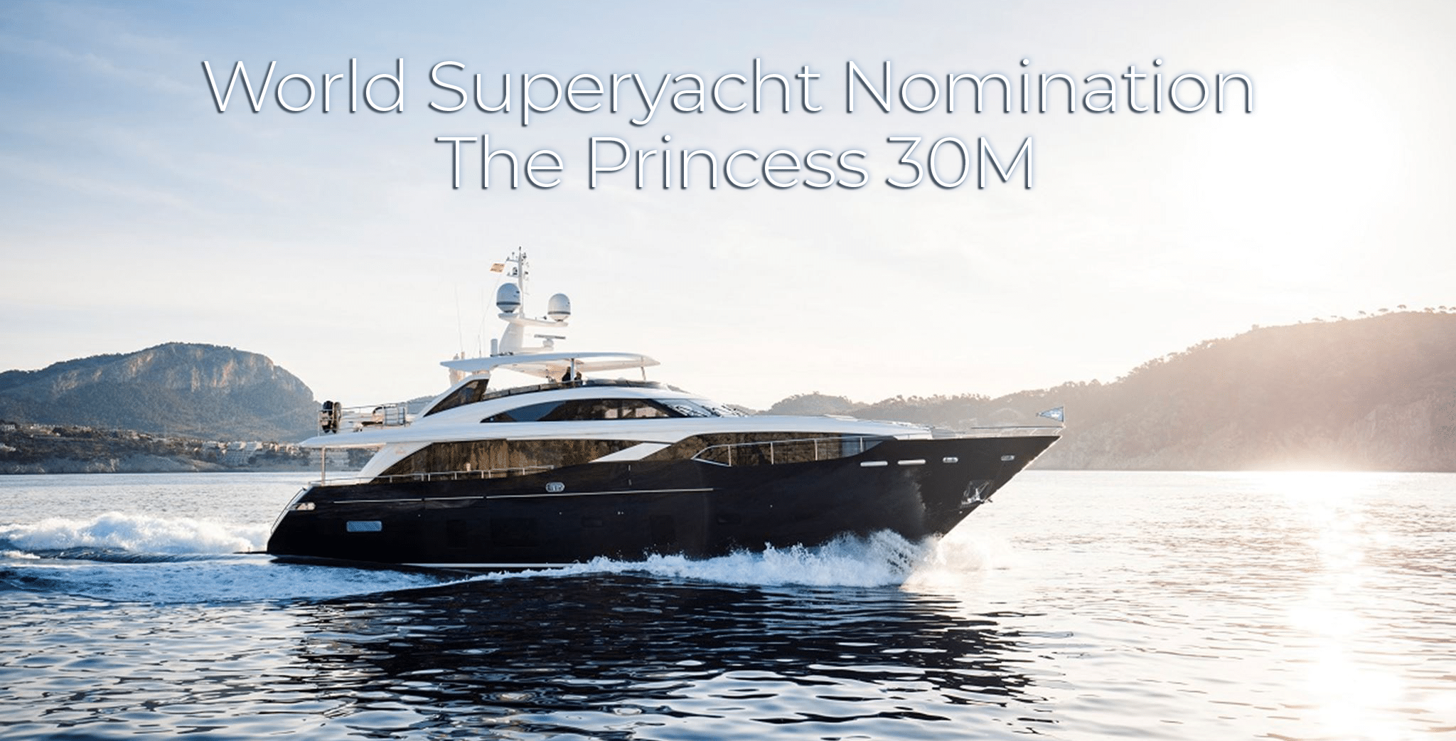 world superyacht nomination Princess 30M