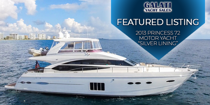 silver lining 2013 72 Princess Motor Yacht for sale