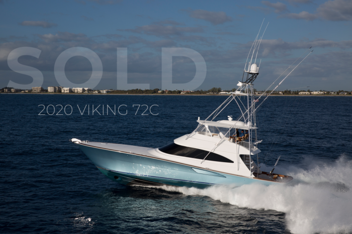 2020 72 Viking Yachts Convertible sold report