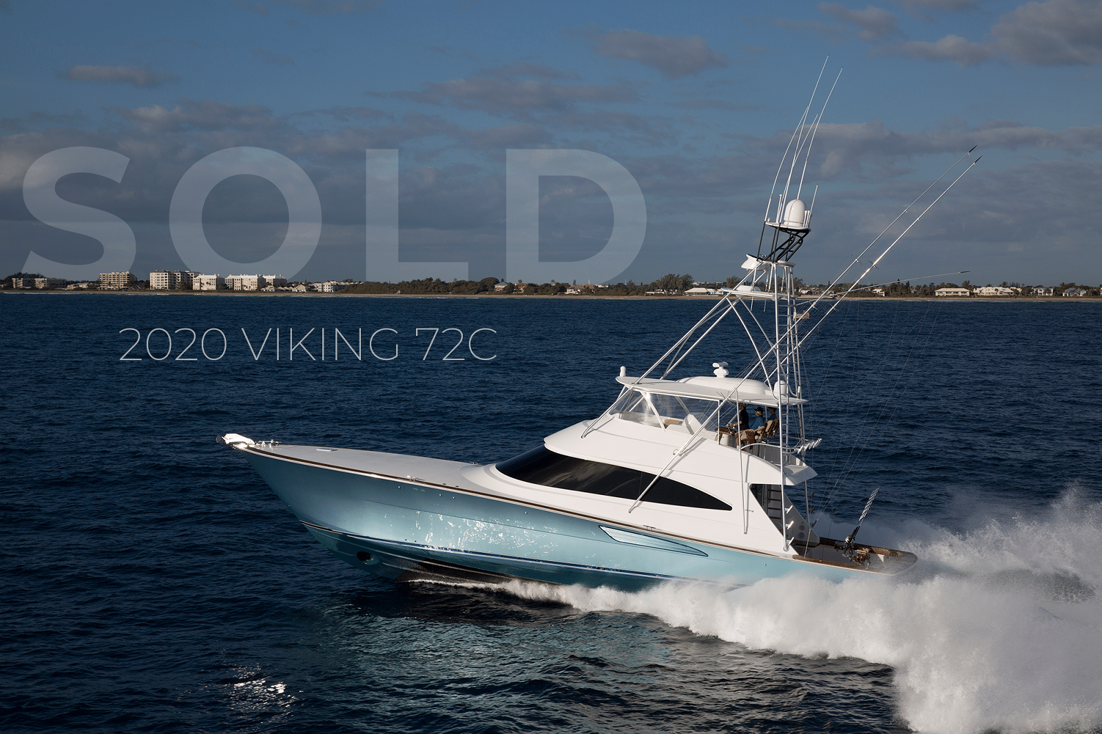 2020 72 Viking Yachts Convertible sold report