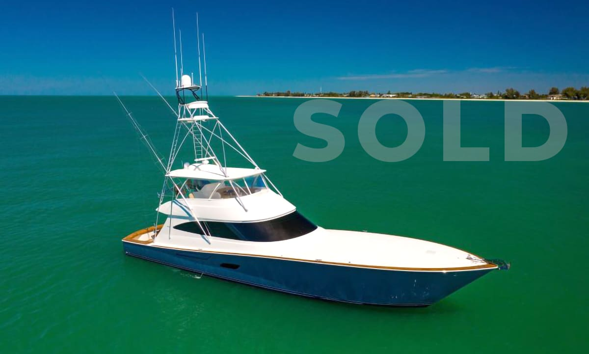 sold 80 Viking Yacht Convertible